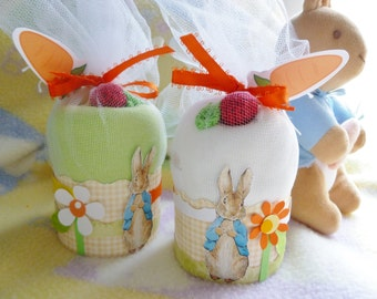 Peter Rabbit Baby Shower Gift ..Onesie Cupcake..Boy..Girl..Neutral..Beatrix Potter..Peter Rabbit Shower Decor..Adorable  :)