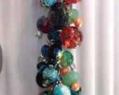 Handbag Charm, Purse Charm, Beaded Charm, Handbag Accessory, Purse Accessory, Charm -  MARTI GRAS
