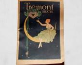 Antique Paper Ephemera Program Tremont Theatre Boston Ma 1919 Advertising Djer Kiss France Fairy Cosmetics Cuticura Shaving Furs Food Ads
