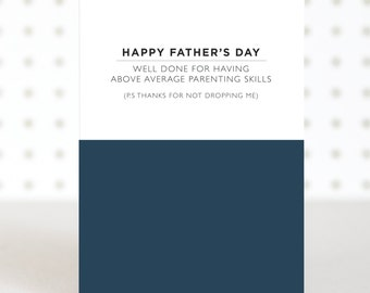 Average Dad Father's Day Card