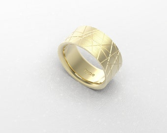 Wedding Band Ring Pattern in Gold Silver or Platinum