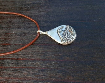 Wave Necklace in Fine Silver Made on Maui