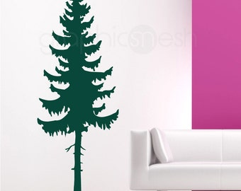 Wall decals PINE TREE Large vinyl art interior decor - Modern design by GraphicsMesh