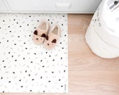 Geometric Rug / Minimalist Kids Room / Decorative Floor Rug | Kitchen Mat | PVC Rug | Kids Decor / Minimalist Nursery / Black and White Room