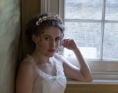 1930s wedding headpiece - Antique style Tiara - Gold headpiece -1940s wedding Headpiece - Agnes Hart UK