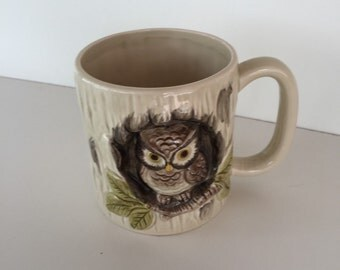 Owl Mug/ Mid century  OTAGIRI Ceramic Mug By Gatormom13