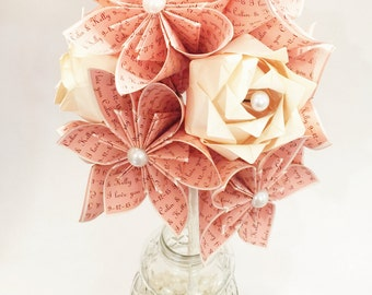 Love dozen with 3 roses- Your choice of colors, 1st anniversary gift, origami, paper flowers, one of a kind, wedding bouquet, traditional