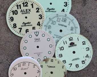 Wrist Watch Faces -- set of 7 -- D7