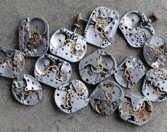 Vintage small Watch Movements -- set of 14 -- D3