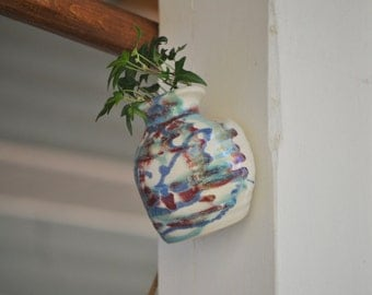 Pottery Wall Vase FREE SHIPPING in Multiberry