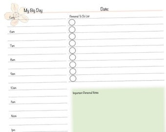 Organize Your Personal and Business Life with the Daily Planner Form from AnnParri on Etsy - New Classic / Half-letter Size!