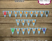 Super Hero (Justice League) Baby Shower Banner - Ready to Use