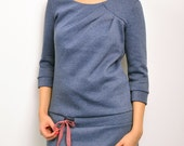 sweat dress blue cuddly sweat by STADTKIND