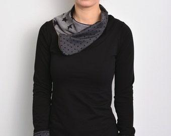 black sweatshirt polka dots by STADTKIND
