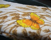 Set of 2 Butterfly Hand Towels - Unused Without Tags