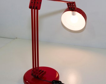 Vintage Cosmo Red Lamp,Adjustable Desk Lamp, Made in Italy