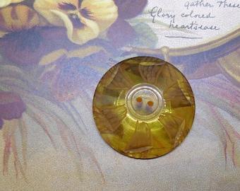 Carved Applejuice Bakelite Dome Button