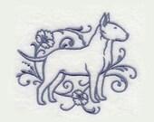 Bull Terrier Tea Towel | Personnalisé serviette de cuisine | Brodé serviette | Broderie serviette de cuisine | Cadeau personnalisé | Cadeau d'amant de chien