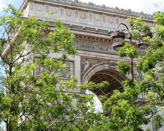 Arc de Triumph Print - Paris Photography - Architectural Photograph - Travel Photo - French Wall Art - Parisian Decor - Colorful Paris Art
