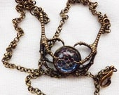 steampunk Dragon Claw pendant,Snakeskin, Thousand Eye, Steampunk Necklace, Wiccan, pagan, gothic, Dragon claw jewelery, Halloween jewellery