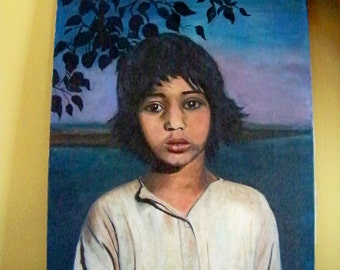 Portrait of a Boy - Oil Painting on Canvas