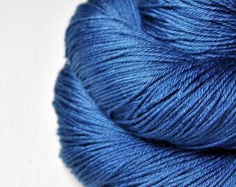 Feeling blue OOAK - Merino/Silk Fingering Yarn Superwash
