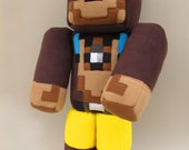 "Softie L for Lee Minecraft plushie inspired doll 23"" Custom made - MADE TO ORDER"