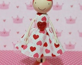 SweetHeart Katrina Miniature Wooden Clothespin Doll