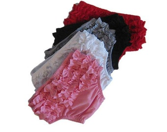 Ruffled Diaper Cover, Ruffled Bloomers- 5 Colors To Choose, Baby Diaper Cover, Valentine Diaper Cover