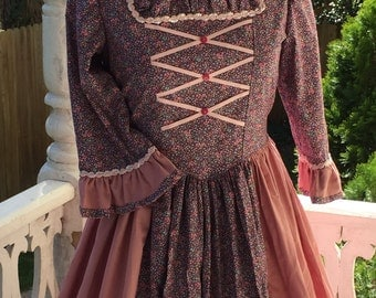 Girl's Ships Today  - Colonial,  Felicity, American Girl Costume -   Girls Sz 14