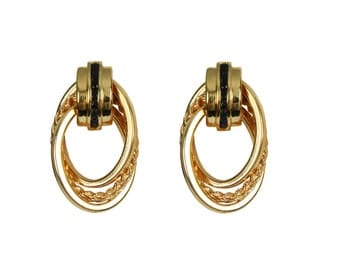 0.40tcw Sapphire & Gold Post Hoop Earrings 14k, Sapphire Gold Earrings, Gold Earrings, Gold Hoops, Gold Studs, Anniversary Gifts, Gift