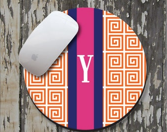 PREPPY GREEK Personalized Mouse Pad, Personalized Mousepad, Monogrammed Mouse Pad, Monogrammed Mousepad, Custom Mouse Pad, Custom Mousepad