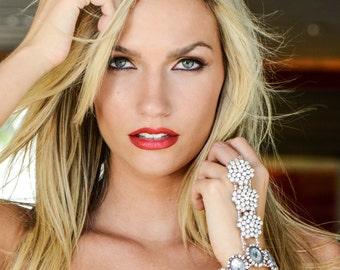 beach wedding bracelet - bohemian bracelet - hipster bracelet - boho bracelet - bracelet ring - handlet - bracelet - gift - The Gatsby HH50