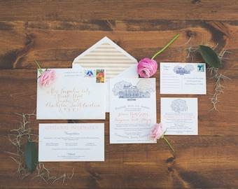 Legare Waring House Wedding Invitation