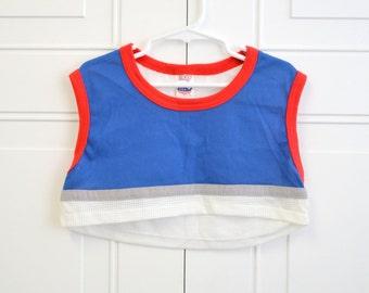 1980s Elkay Boys' Cropped Athletic Shirt