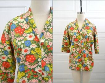 1960s Floral Cotton Jacket