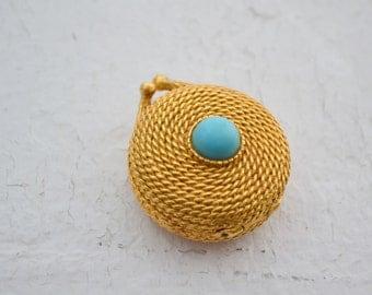 1960s Estee Lauder Golden Rope Solid Perfume Compact