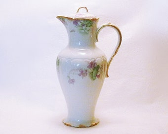 Vintage Limoges Haviland GOA Pitcher/Chocolate Pot