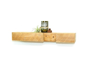 "Reclaimed wood floating shelf - 28"""