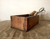 Fabulous VINTAGE wooden industrial box.  My vintage home.