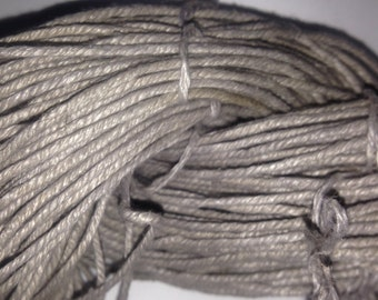 Silvery Grey Hemp Worsted Weight Yarn