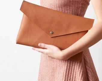 SPRING SALE Brown Envelope Bag No. Leb-103