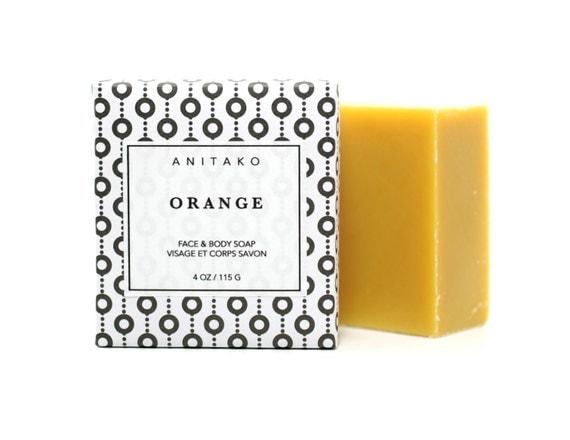 O R A N G E - huile d'Orange douce parfumée, visage & corps au savon, savon, savon naturel, savon à l'huile d'Olive, savon de Vegan