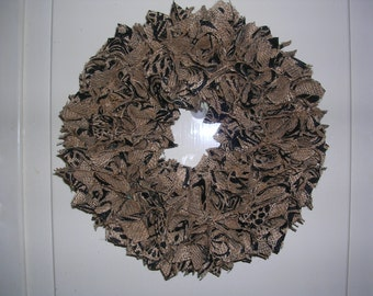 Burlap with black, country, rustic fall wreath 10""