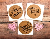 Be Mine Valentine Stickers, Valentine Envelope Seals, Valentine Labels, Love Stickers, You Are so Loved