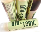 GIN & TONIC Lip Balm - lime vegan natural candelilla lip tube