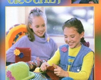 Cool Stuff Teach Me to Crochet - Leisure Arts Crochet Pattern - Beginner Crochet Patterns -  Kids Crochet Patterns