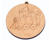 christmas train ornament // personalized ornament // holiday decoration
