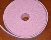 "Light Pink 1 and  1/4"" Cotton Webbing for belts, key chains, dog collars and more Sold by the Yard~~~Ready to Ship"