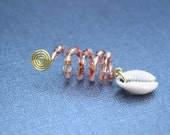 Cowrie Shell Loc Cuff, Dread Bead, Loc Jewelry, Dreadlock Jewelry, Jewelry for Dreads